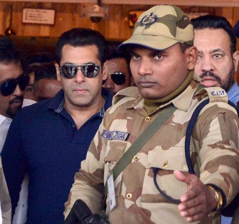 Bollywood superstar Salman Khan in an Arms Act case that had been filed against the actor in 1998