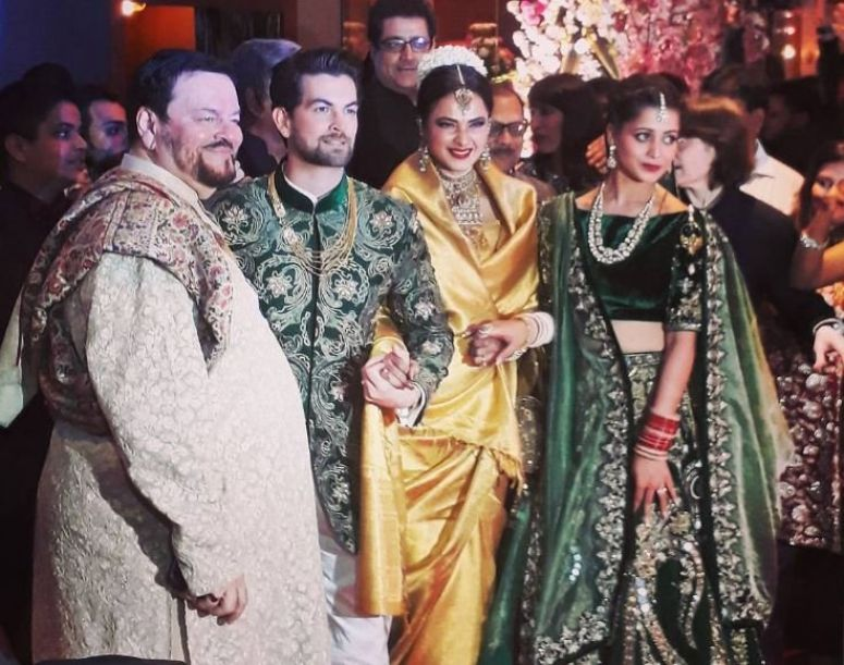 From Salman Khan To Rekha, Neil Nitin Mukesh's Wedding Reception Was Quite A Starry Affair