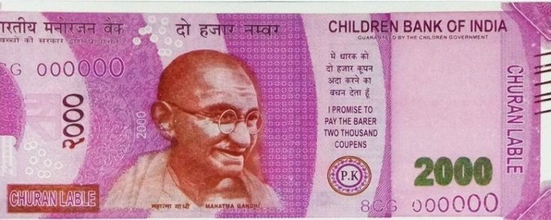 Delhi ATM Dispenses Fake Rs 2000 Notes From 'Childrens Bank of India' With 'Churan Lable'